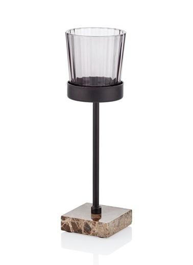 The Mia Metal Tealight Mumluk Renkli 5x5x19 Cm Renkli